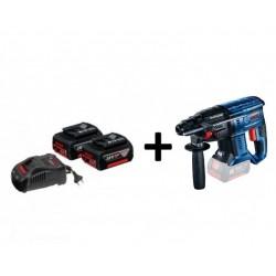 SET - GBH 180-LI kombinované kladivo 1,7 J + 2x baterie 5.0 Ah + nabíječka GAL 1880 CV + brašna BOSCH