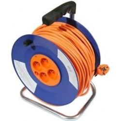 25 M - Prodlužovací kabel na bubnu DG-4ZR-F04 25 m, 4 zásuvky