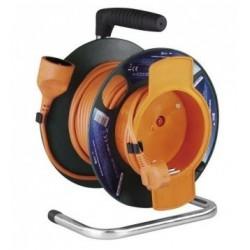 25 M - Kabel prodlužovací na bubnu EMOS 1 x zásuvka, 25 m oranžový TYP E-077