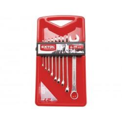 Sada očkoplochých klíčů - 9ks, 6 - 19mm, v plastové kazetě