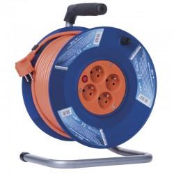 50 M - PVC prodlužovací kabel na bubnu - 4 zásuvky 50m